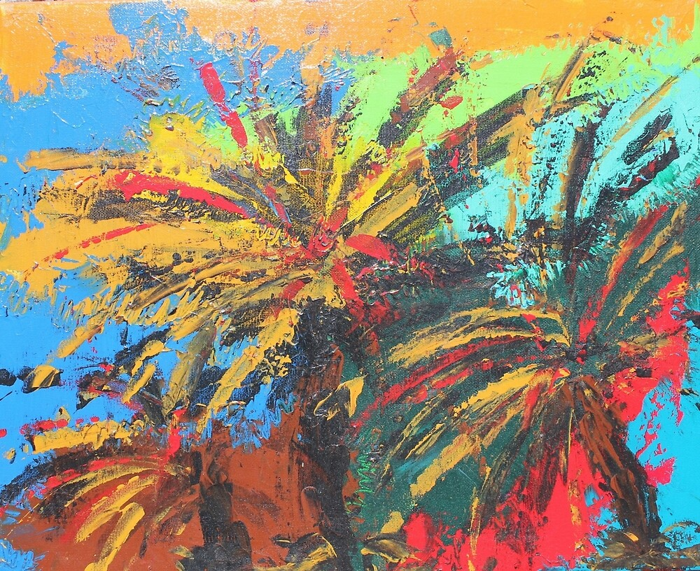 Palm Trees by Amogh Katyayan