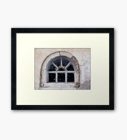 Window in Oia Framed Print