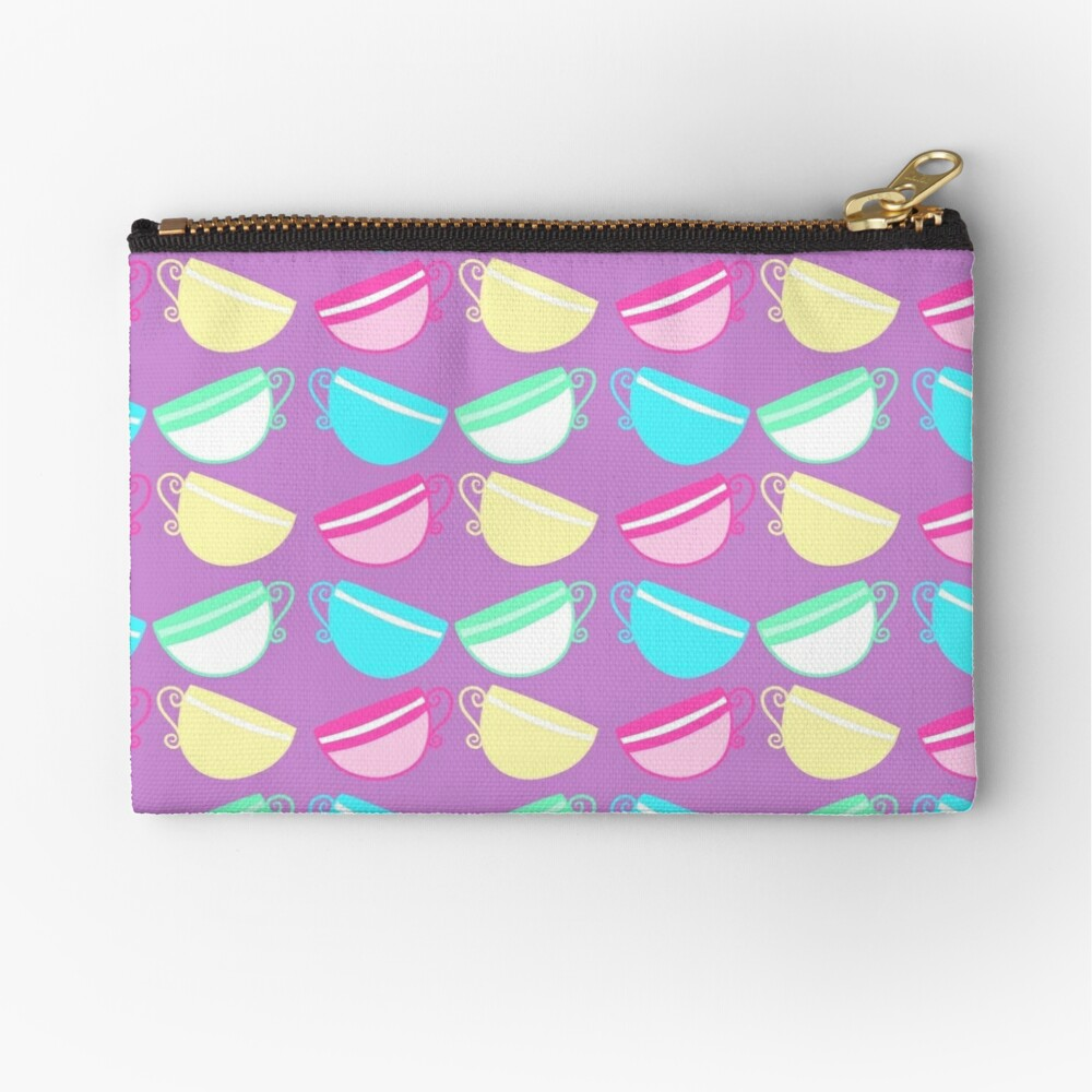 Springtime Tea Time Zipper Pouch