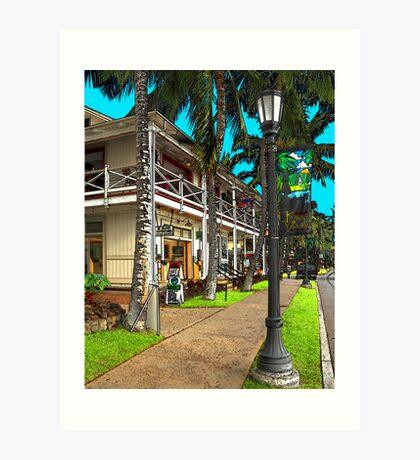 Kailua Village - Kona Hawaii Art Print