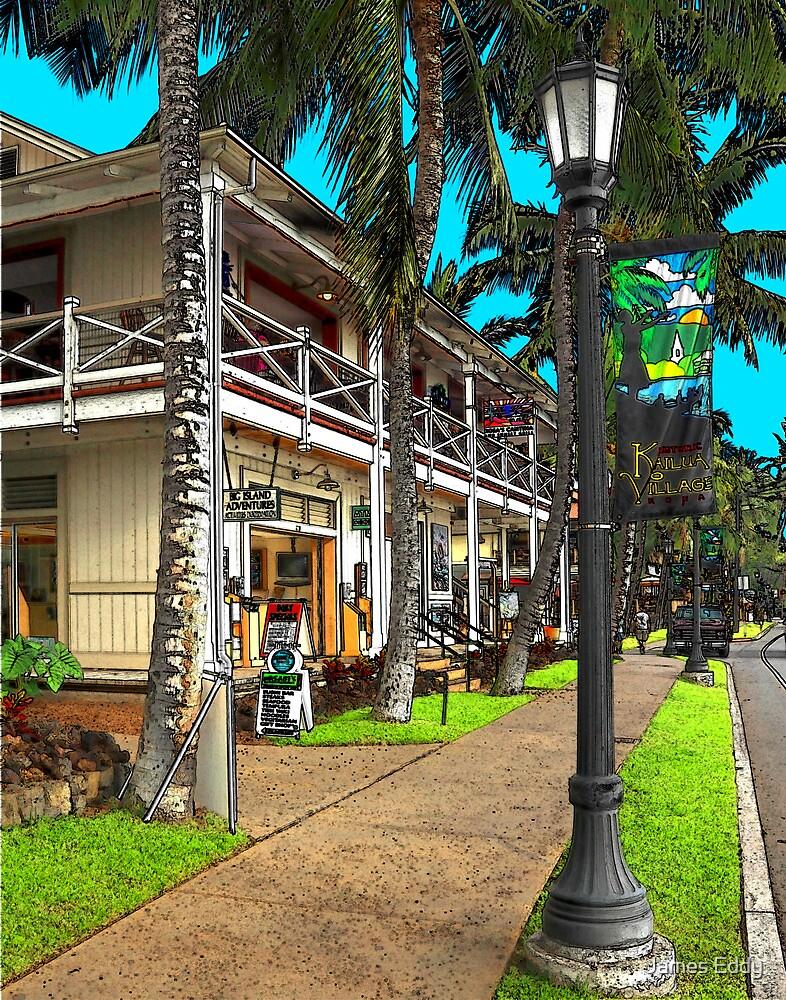 Kailua Village - Kona Hawaii by James Eddy