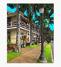 Kailua Village - Kona Hawaii Photographic Print