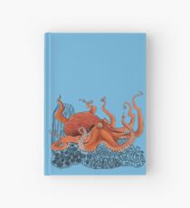 Red Giant Octopus Doodle Hardcover Journal