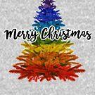 Regenbogen fröhlichen Weihnachtsbaum von gossiprag