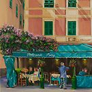 Musicians' Stroll in Portofino by Charlotte  Blanchard