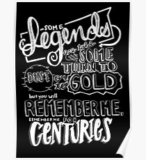 """Centuries"" By Fall Out Boy Lyric Drawing Poster"