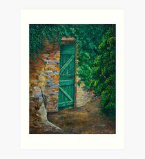 The Garden Gate In Cinque Terre Art Print