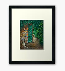 The Garden Gate In Cinque Terre Framed Print