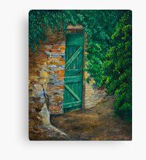 The Garden Gate In Cinque Terre Canvas Print