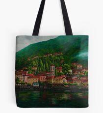 Village View On Lake Como Tote Bag