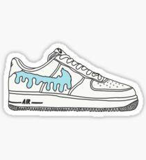 AF 1 shoe blue drip Sticker
