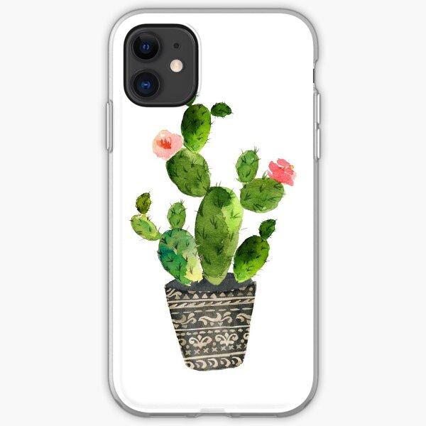Watercolor cactus iPhone Soft Case