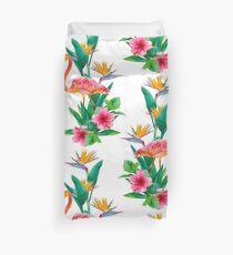 Flamingo Paradise Garden Duvet Cover