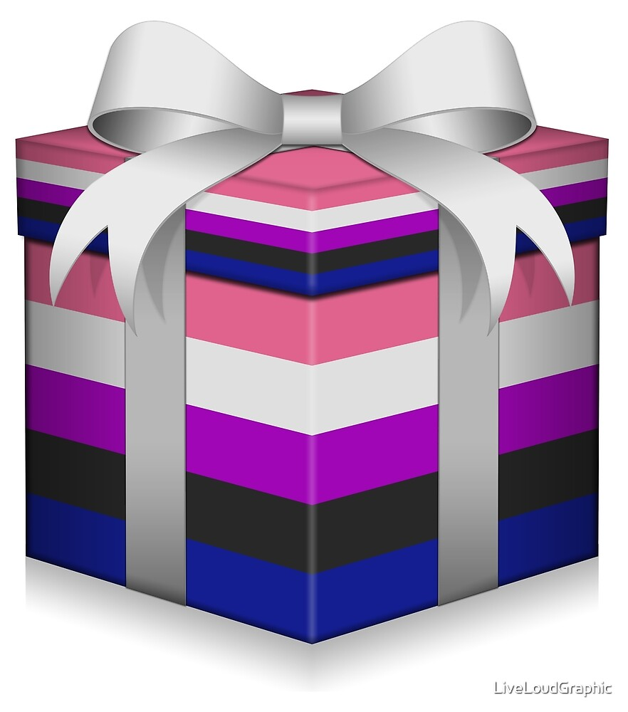Gender FLuid Gift Box  by LiveLoudGraphic
