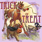Trick or Treat Halloween Animals by Unicornarama