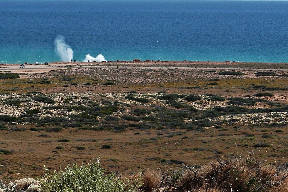 Blowholes from a distance (please view larger) by myraj
