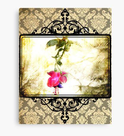 Damask Flower Print (Psalm 23) Canvas Print