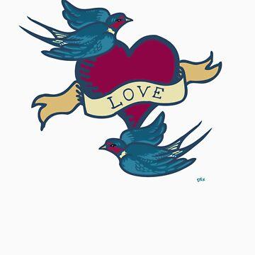 Love Birds Tattoo TShirt 2 by DExIGN