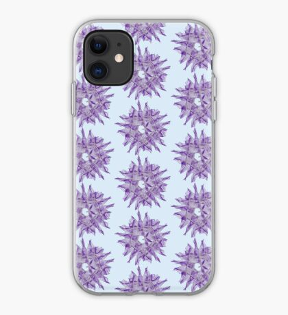Abstract Violet Spiral Lines iPhone Case