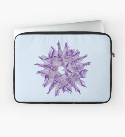 Abstract Violet Spiral Lines Laptop Sleeve
