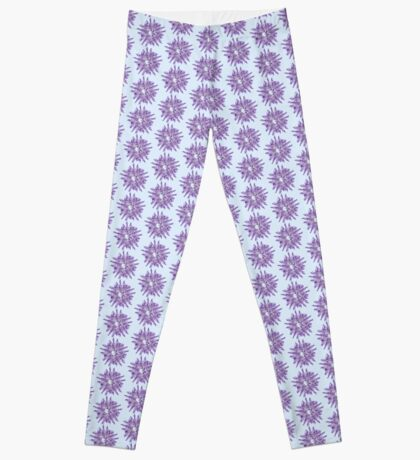 Abstract Violet Spiral Lines Leggings