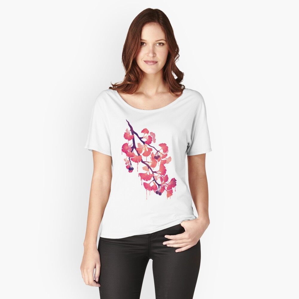 O Ginkgo Women's Relaxed Fit T-Shirt Front