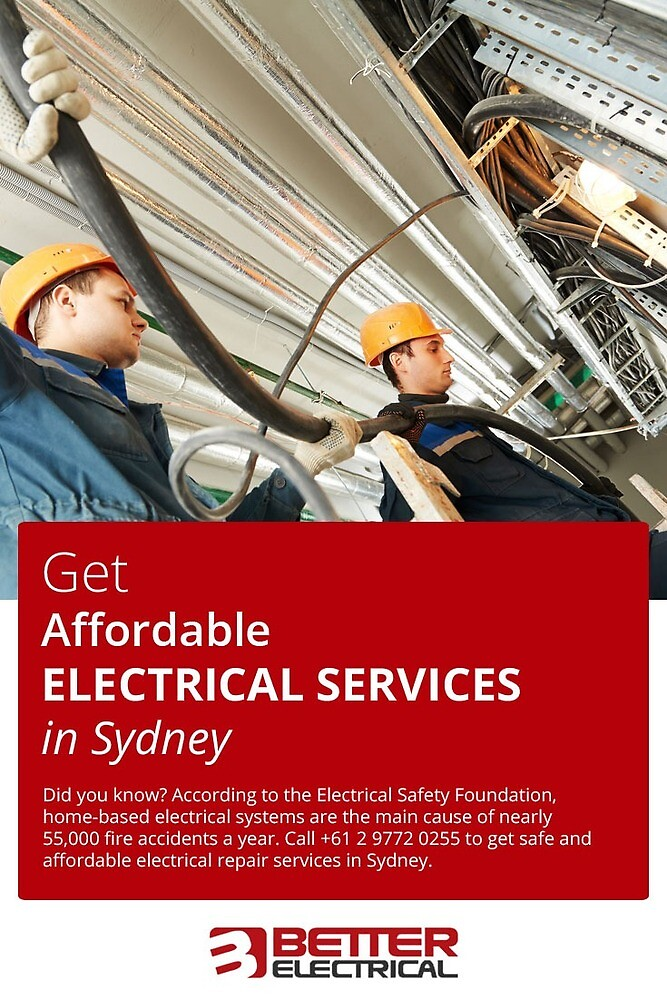 Get Affordable Electrical Services in Sydney by betterelec