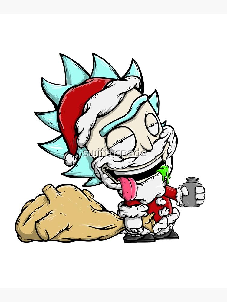Santa Rick / Rick And Morty Christmas / Drunk Rick by swiftyspade