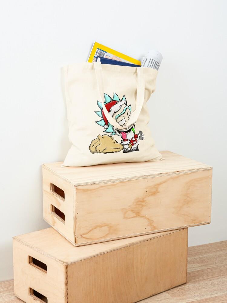 Alternate view of Santa Rick / Rick And Morty Christmas / Drunk Rick Tote Bag