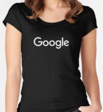 New White Google Logo (September 2015) - Clear, High-Quality, Large Women's Fitted Scoop T-Shirt