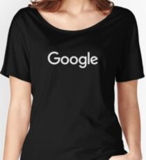 New White Google Logo (September 2015) - Clear, High-Quality, Large Women's Relaxed Fit T-Shirt