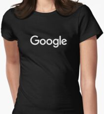 New White Google Logo (September 2015) - Clear, High-Quality, Large Women's Fitted T-Shirt