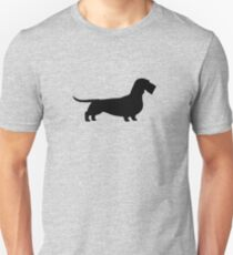 Wire Haired Dachshund Silhouette(s) Unisex T-Shirt