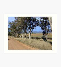 Capertee Valley, looking eastwards towards Glen Davis Art Print