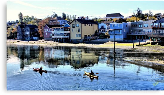 Coupeville Kayakers One by Rick Lawler