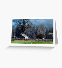 Skagit Barn Digital Painting Greeting Card