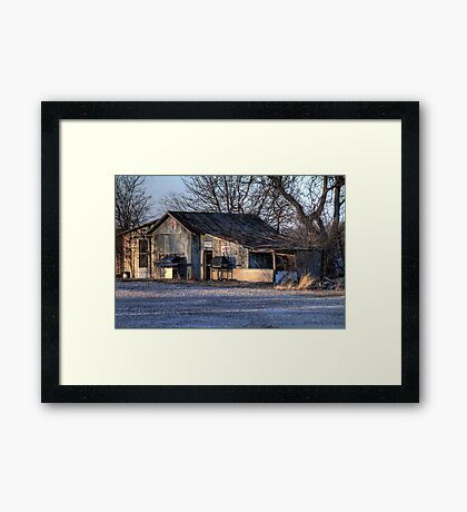 The Old Country Garage Framed Print