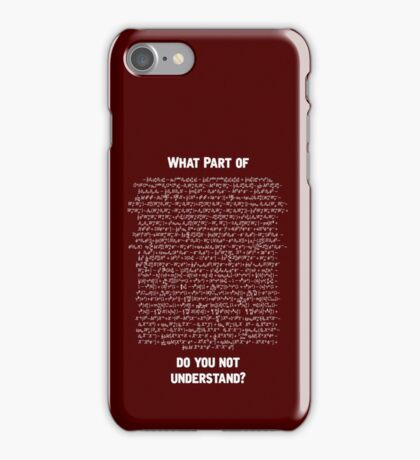 Standard Model Lagrangian iPhone Case/Skin