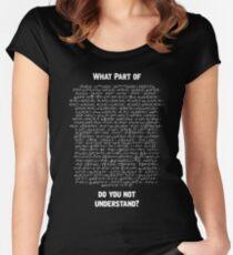 Camiseta entallada de cuello ancho Modelo Estándar Lagrangiano