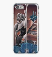 Optimus and Megatron and the Blue Flowers iPhone Case/Skin