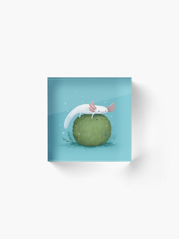 Alternate view of Axolotl on a Mossball Acrylic Block