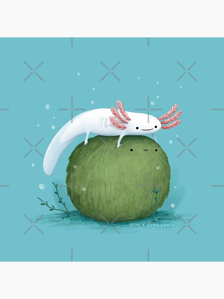 Axolotl on a Mossball by SophieCorrigan