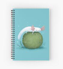 Axolotl sur un mossball Cahier à spirale