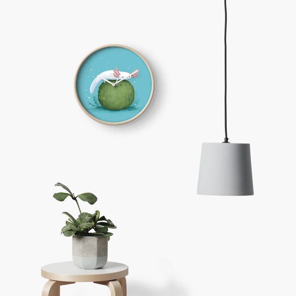 Axolotl on a Mossball Clock