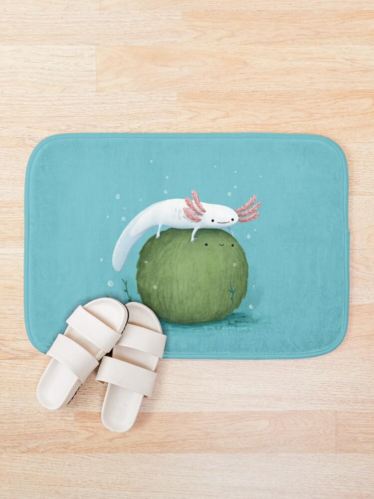 Alternate view of Axolotl on a Mossball Bath Mat
