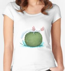 Axolotl on a Mossball Fitted Scoop T-Shirt