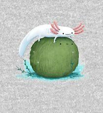 Axolotl auf einem Mossball Kinder Hoodie