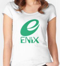 ENIX Logo Green Women's Fitted Scoop T-Shirt