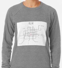 Beijing Subway Map Lightweight Sweatshirt