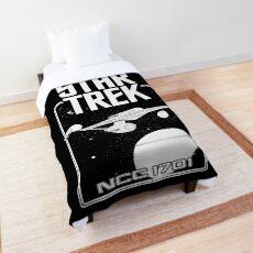 Enterprise NCC 1701 Black and White Comforter